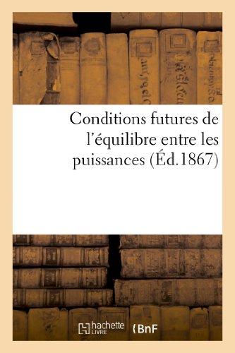 Conditions futures de l'équilibre e...