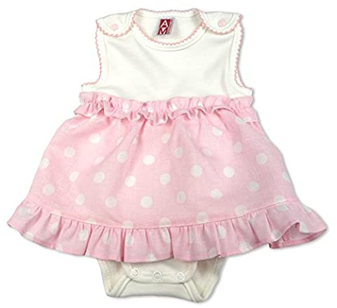 AM artmoda Baby Lady Body Linen Dress for New Born Girls, Size New Born