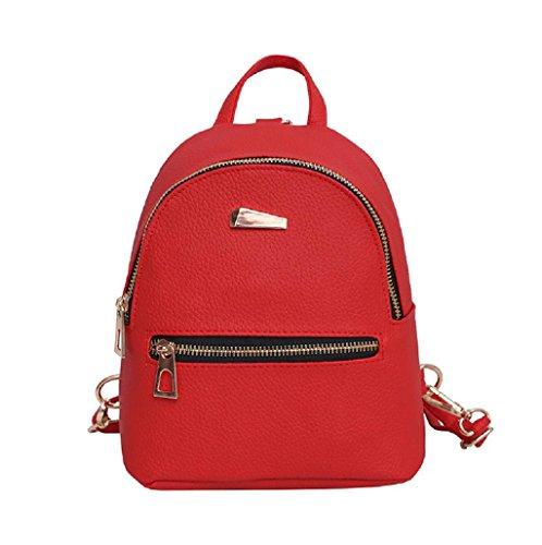 Imagen de  mujer sannysis mujeres bolsos de cuero con cremallera rojo  alternativa
