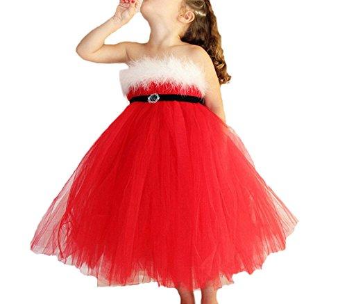 nder Hirsch Gestreift Prinzessin Baby Mädchen Kleid Weihnachten Outfits Kleider Kids Baby Girls Santa Striped Princess Dress Toddler Christmas Outfits Clothes (Santa Girl-outfits)