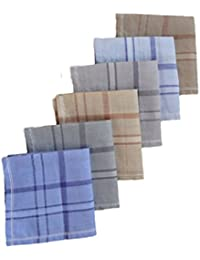 S4S 100% Cotton Multicolor Handkerchiefs (Pack of 6)