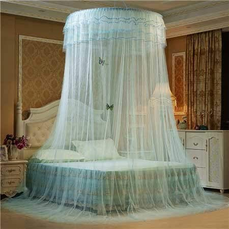 Moskitonetz Hängendes Rundes Hauben-Moskitonetz Luxusprinzessin Pastoral Lace Bed Canopy Crib Luminous Butterfly Moskitonetz, Hellgrün