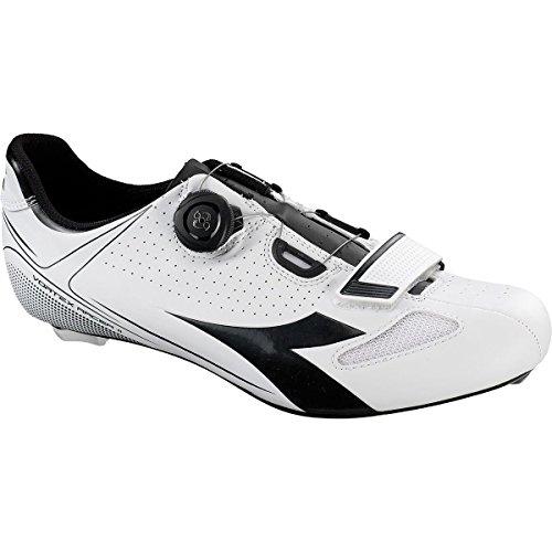 Diadora Unisex-Erwachsene Vortex Racer Ii Radsportschuhe-Rennrad Weiß (white/black 3051)