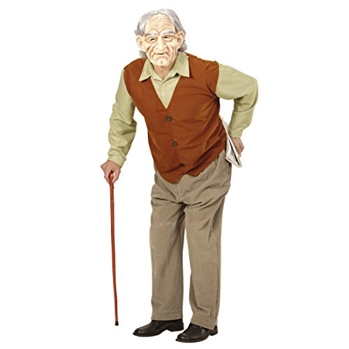 Alter Mann Herrenkostüm Opa Kostüm XL 54 Großvater Outfit Karneval Greis Verkleidung Bad Taste Party Accessoires Senior Faschingskostüm (Perücke Alter Mann Kostüm)