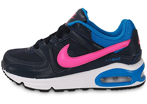 Nike Air Max Command (Ps), Chaussures de Sport Fille Multicolore - Negro / Rosa / Azul (Obsidian / Pink Pow-Photo Blue)