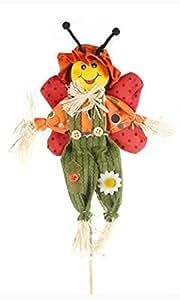 Jenny Coccinelle épouvantail sur bâton Taille: Jardin, Patio, serre, décoration fleurs