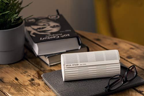 Handgefertigter Brillenetui aus Holz mit 4 Magneten. Natürliche Birke, weiße Farbe, von Krea-Wood Brand - Weiße Birke Natürlichen