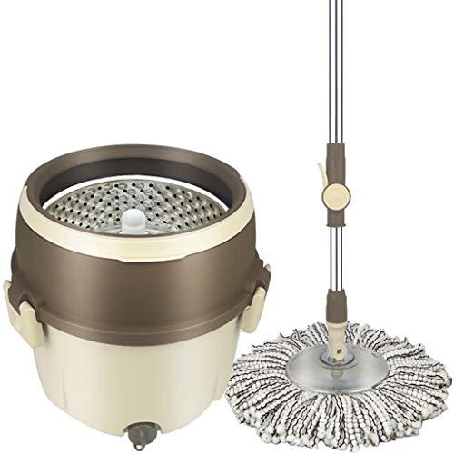 Llsdls Single Barrel 360 Grad Wischmopp Wet and Dry Automatischer Haushalt Doppelantrieb Handwäsche Mopp Faules Wischen Artefakt - Mopp-Eimer Größe: 30x28cm