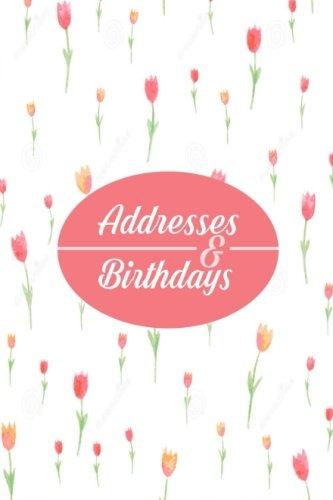 Addresses  And Birthdays: Mini At A Glance Address Log Book For Contacts, With Addresses, Phone Numbers, Emails & Birthday. Alphabetical A-Z Organizer ... Girls, 4?x6? Paperback (Mini Address Books)