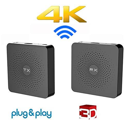 Wireless 4k HDMI-Sender und -Empfänger unterstützen Audio-Video-Übertragungsdistanz bis zu 30 m / 100 Fuß, Plug & Play-Unterstützung 2k * 4k & 3D-Plug & Play ohne Software Video-audio Sender
