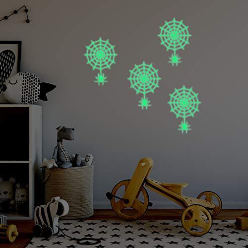 Spinnen-Netz Luminous-Wand-Aufkleber, Spinnennetz Environmental Aufkleber mit Hausgemachte für Schlafzimmer Teufel House Party-Dekoration