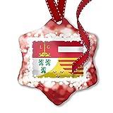 NEONBLOND Adorno de Navidad Liege Bandera Región: Bélgica, Rojo