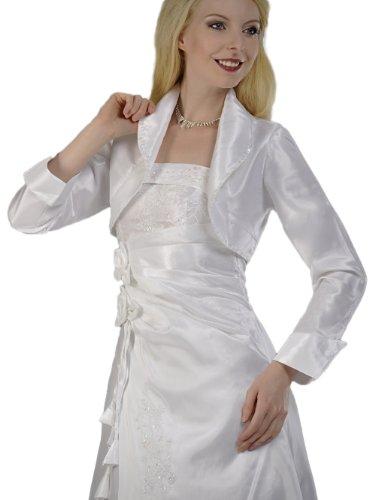 Austen - 1500 boléro assorti à brautkleid 38–62 blanc taille Weiß (ohne Pailletten)