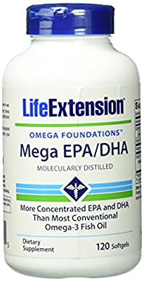 Life Extension Mega EPA/DHA ( 120 Softgels)