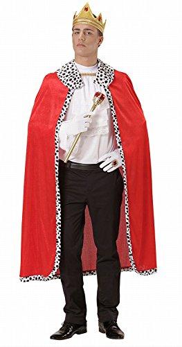 Widmann 00098 - Umhang und Krone König, 120 (King Halloween Royal Kostüme)