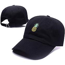 ZKADMZ@ Gorra De Béisbol del Bordado del Sombrero De La Piña Sombrero del Sombrero del Inconformista De La Fruta Fresca DivertidaGorra De Algodón del Hip Hop