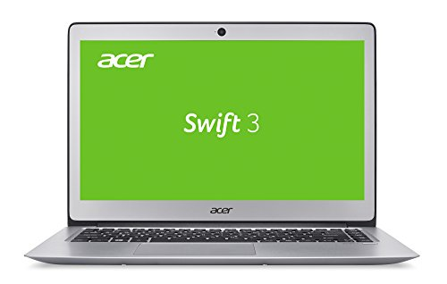 Acer Swift 3 (SF314-51-37TM) 35,56 cm (14 Zoll) Full HD IPS (matt) (Intel Core i3-6006U, 4 GB RAM, 128 GB SSD, Intel HD Graphics 520, Win 10 Home) silber