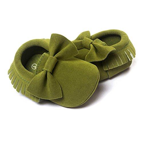 Saingace Baby Krippe Quasten Sequins Schuhe Kleinkind Soft Sohle Turnschuhe Casual Schuhe Armeegrün