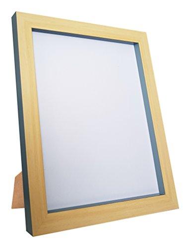 Frames by Post Magnus Bilderrahmen/Posterrahmen, recycelter Kunststoff, Buche/Dunkelgrau, Größe A3