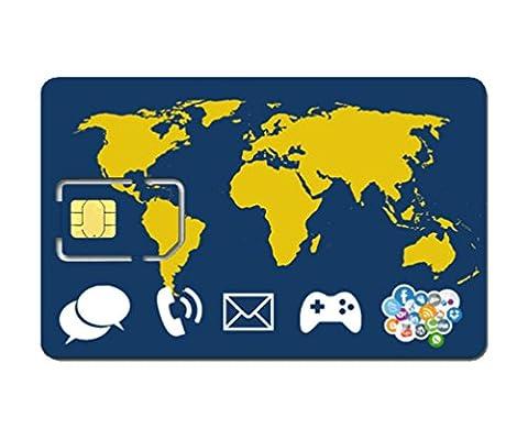 Prepaid WORLD SIM card +10 Euro credit - stay connected worldwide - trio SIM Standard, Micro, Nano
