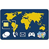 Prepaid WORLD SIM card + 50 Euro credit - stay connected worldwide - trio SIM Standard, Micro, Nano