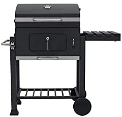 Idea Regalo - Tepro - Barbecue a carbone Toronto Click, modello 2019, antracite/acciaio INOX