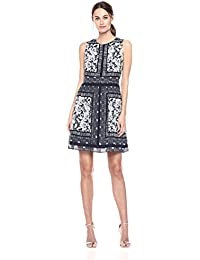 Vince Camuto Women's Chiffon Fit and Flare Dress