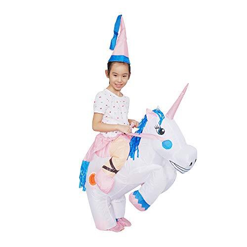 Anself Kinder Aufblasbares Kostüm Einhorn Cosplay für Fasching ()