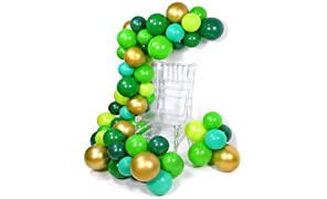 PuTwo Green Balloons, 70 Pcs 12 Inch Lime Balloons Emerald Green Balloons Lime Green Emerald Green Balloons Dark Green Green Party Decorations, Green Birthday Decorations, Reptile Party Decorations