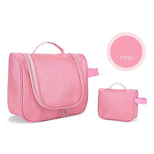 DCRYWRX Tragbare Kosmetische Reisetasche Kosmetiktasche Multifunktionale Wasserdichte Kosmetische Reisetasche Leichte Haltbare Reisetasche Waschen,Pink
