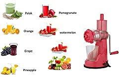 STAR WORK Jumbo Fruit & Vegetable Premium Manual Hand Juicer Mixer Grinder With Steel Handle & Waste Collector