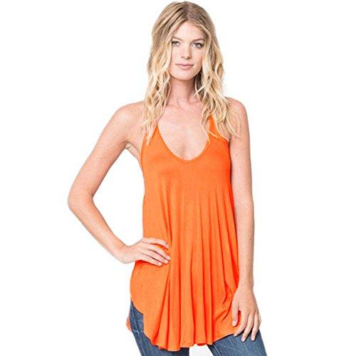 meinice-robe-special-grossesse-femme-orange-m