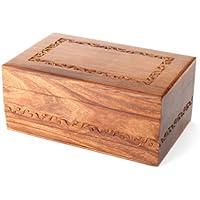 Urns UK Carlisle - Urna para cenizas (madera, 250 cl), color marrón