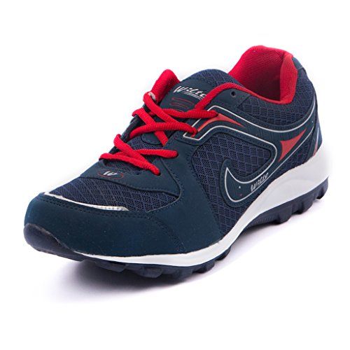 Asian Shoes Men's Mesh Bullet 13 Navy Blue Rede Range Running Shoes-9 Uk
