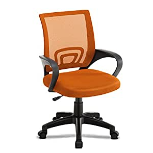 Jl Comfurni Office Chair Adjustable Mesh Swivel Home Office Chairs Low Back Computer Desk Chair