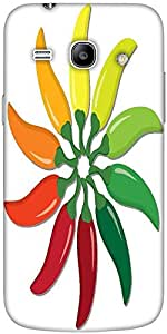 Snoogg Chilli Pepper Wheel In Vector Forma Solid Snap On - Back Cover All Aro...