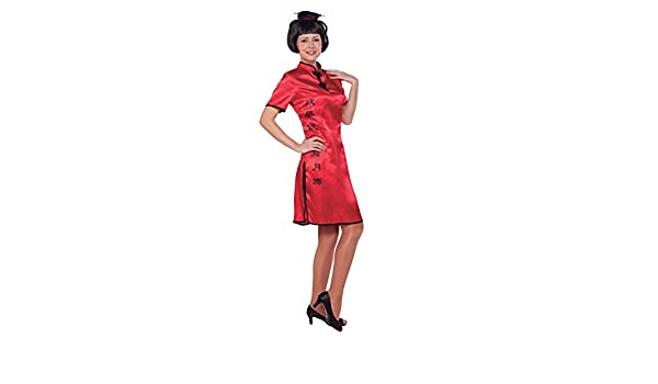 Fyasa Chinese Girl Fancy Dress Costume For 12 Years Above  Amazon.co.uk   Toys   Games 269ad1c9668c