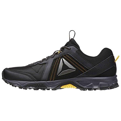 Reebok Trail Voyager 3.0, Sneaker Basses Homme Noir (Black/retro Yellow/ash Grey/pewter)