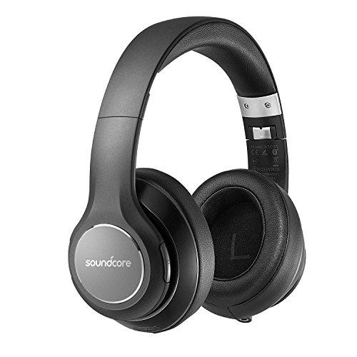 Soundcore Vortex Bluetooth Kopfhörer von Anker, Kabellose Over-Ear Kopfhörer, mit starker 20 Stunden Akkulaufzeit, Bluetooth 4.1 und erstklassigem Hi-Fi Stereo Sound, mit samtweichen Polsterkappen, stabilen Kabeln und eingebautem Mikrofon