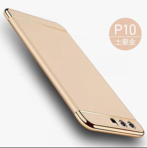 Preisvergleich Produktbild Huawei p10 Hülle, KuGi ® Huawei p10 Hülle - Hochwertige ultra-dünnen PC Standplatz -Abdeckung Hülle für Huawei p10 5.1 Zoll Smartphone.(Gold)