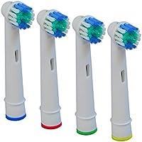 Igemy 20pcs Brosse à dents électrique Têtes de remplacement pour Braun Oral-B Cross Action coloré