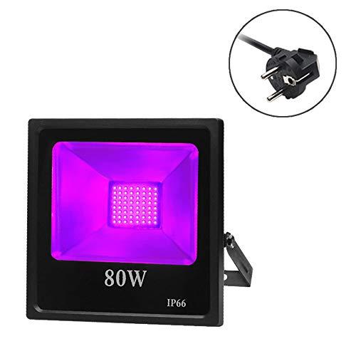 ARTKIDA UV Schwarzlicht 80W violettes LED Strahler