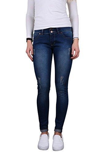 Toni Ellen Deep Blue T713 Damen Jeans Hüftjeans Slim Fit Skinny Hose Gr. 40/L28