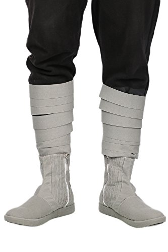Halloween Cosplay Schuhe Grau Kuh Wildleder Ankle-Stiefel Karneval Verrücktes Kleid Für Erwachsene Custom (Luke Kostüme Skywalker Custom)