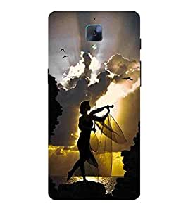 For OnePlus 3T girl with guitar, girl play guitar, cloud, bird Designer Printed High Quality Smooth Matte Protective Mobile Case Back Pouch Cover by APEX