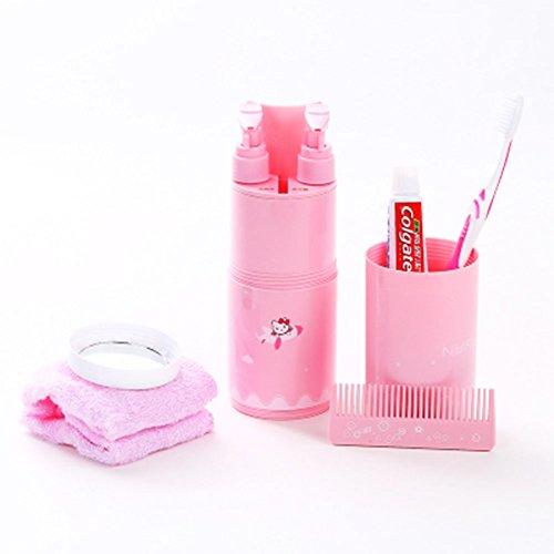 (Schicken Sie Fünf Aufhänger) Spielraum-Wäsche-Schalen-Shampoo-Bad-flüssige Männerschalen-Bürsten-Zahn-Schalen Handtuch-Aufbewahrungsbehälter-weibliche Tragbare Reise-Versorgungsmaterialien Unterflasc - Holder Zahn Cup