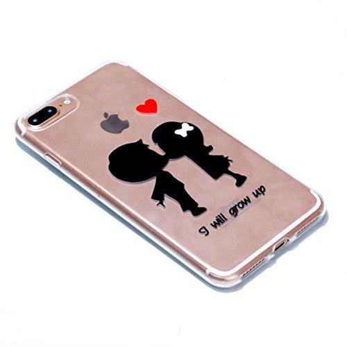 iPhone 7 Plus Hülle, iPhone 7 Plus Schutzhülle, MSK Taschen Schalen Flexible TPU Weiche Rückwärtige Schutzhülle Case Für iPhone 7 Plus - elegant #F elegant #D