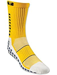 Trusox MID de Calf Thin Calcetines Hombre Amarillo amarillo/negro