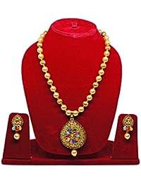 Majik Elegant Pearl Pendant Necklace Set For Women, Diwali Gift, Birthday Gift, Valentine Gift For Her, 75 Gram...