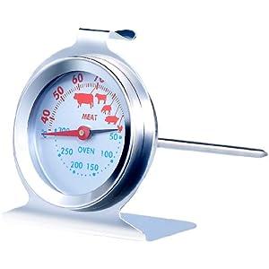 Rosenstein & Söhne Ofenthermometer: 3in1 XL Braten- und Ofen-Thermometer für Gar- & Backofentemperatur (Backthermometer)